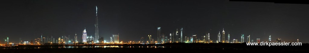 Dubai Night Panorama