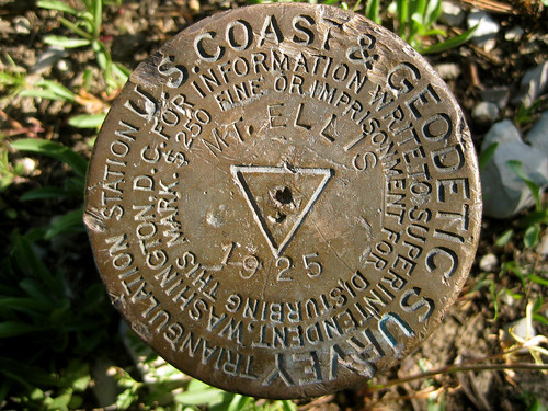 Mt Ellis survey marker