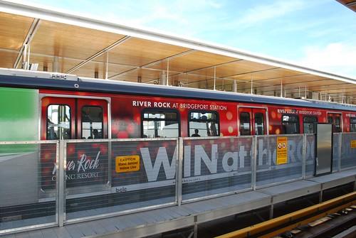 River Rock Casino adwrapped train