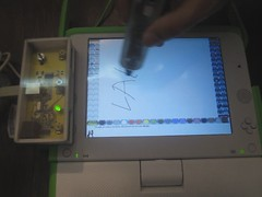 lapix electronic pen in action