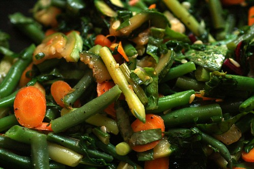 Vegetables cooked