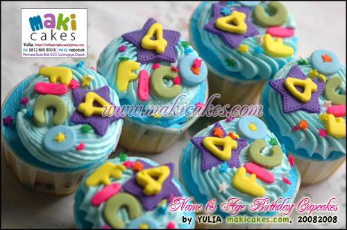 Name & Age Bday Cupcakes_ - Maki Cakes