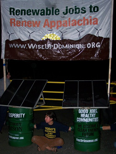 activists lock down at SW Virginia Coal Plant Construction Site in St. Paul VA