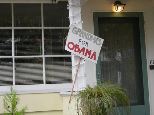 Grandmas for Obama Sign