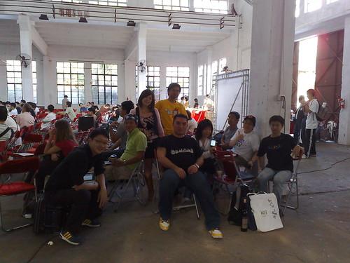 2008/11/16 台灣團與部份香港blogger在廣州年會會場