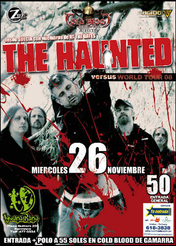 The Haunted en Peru 2008