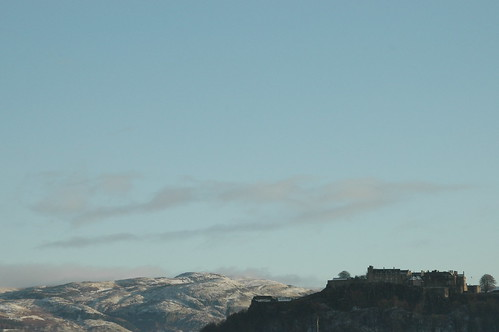 Stirling Castle and Ochils