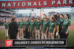 Childrens Chorus of Washington at Nationals Park