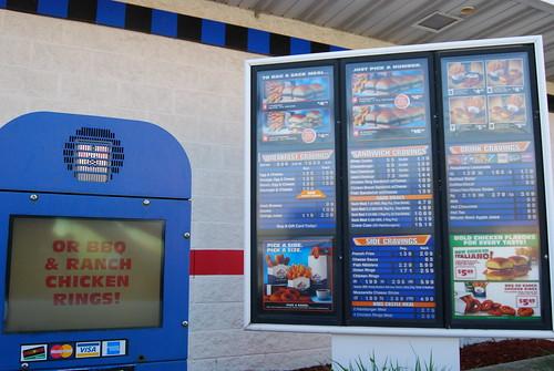 Drive thru menu