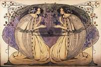 Frances Macdonald y Herbert McNair. Doves and Dreams.
