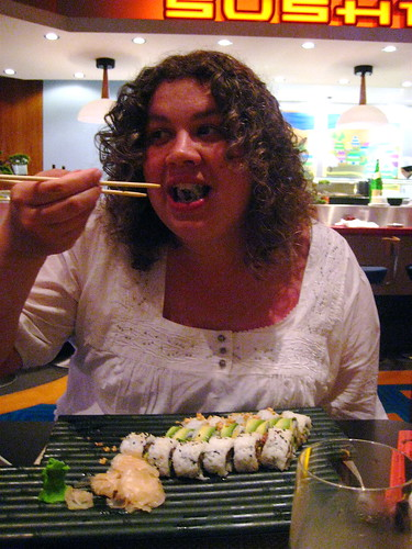 Someone LOVES sushi!