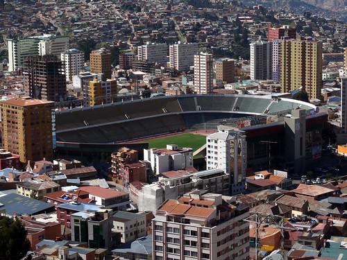 Das Stadion in der Höhe von 3600 Metern