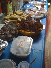 at the bake sale