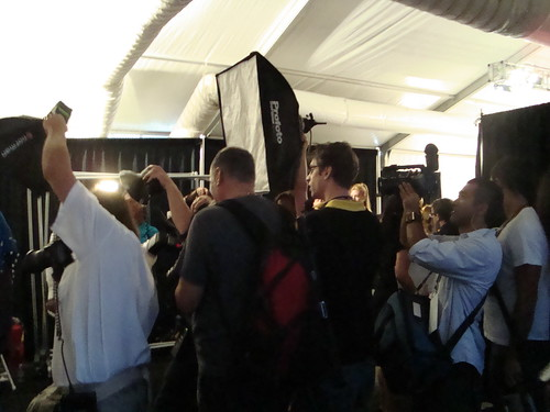 Photogs backstage at Rebecca Taylor Show