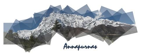 Panografica de los Annapurnas