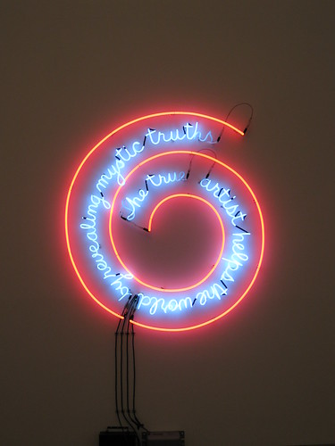 The True Artist Helps the World by Revealing Mystic Truths, Bruce Nauman