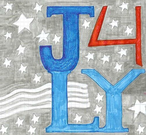 Fourth of July doodle