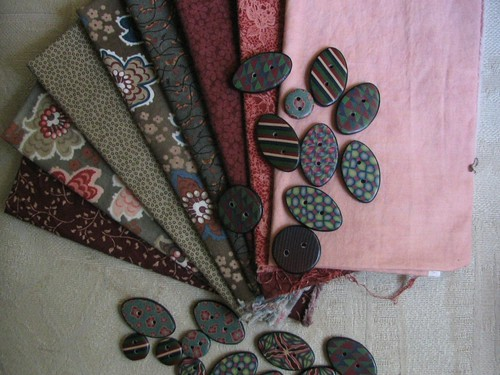 Fabric & buttons