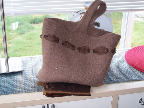 Market Bag Before stiffener and lining