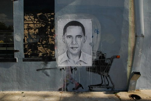 Obama on the Grey Ghost on Banksy