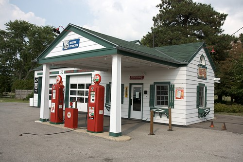 The first gas station