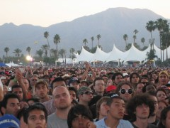 Crowds at the main stage of the Coachella Valley Music & Arts Festival