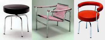 Le Corbusier. Sillas y banquitos.