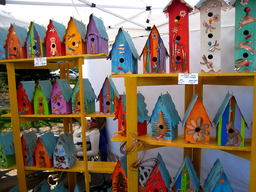 Art on the Avenue - a colorful assortment for those fancy birds