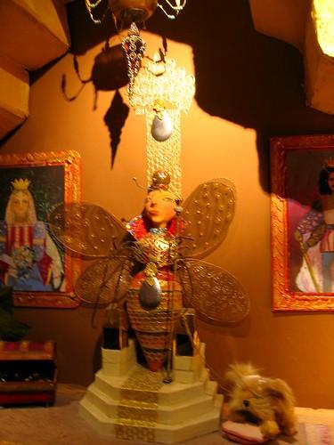 Queen Bee in the nougat museum.