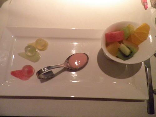 優格水果莎拉+三色水果凍