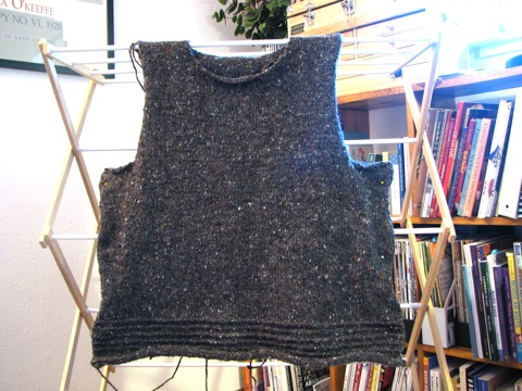 Grey Tweed Pullover-body