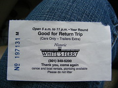 Return Trip Ticket White's Ferry