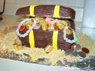 The Finished Treasure Chest Cake