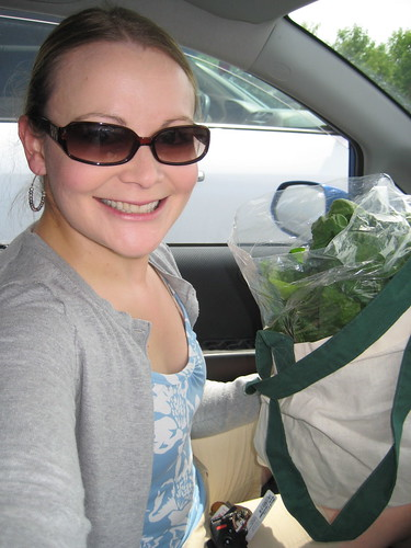me and spinach from farmers' market