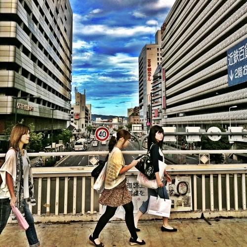 阿倍野歩道橋似て。 #walking