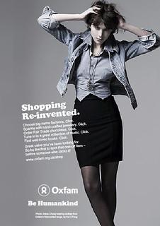 Oxfam online shop advert