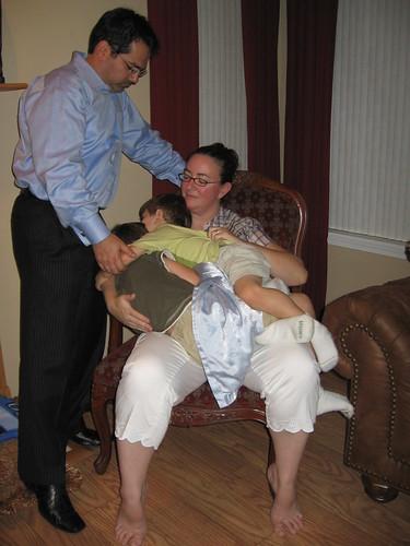 Mom, Dad, and Two Sleepy Boys
