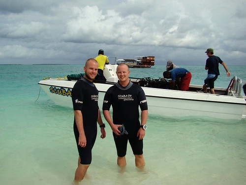 Tony and I Diving In Zanzibar