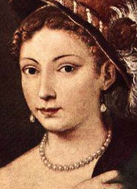Portrait of a Young Woman by Tiziano Vecellio Titian