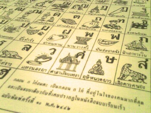 The Classic Thai Alphabet Rhyme