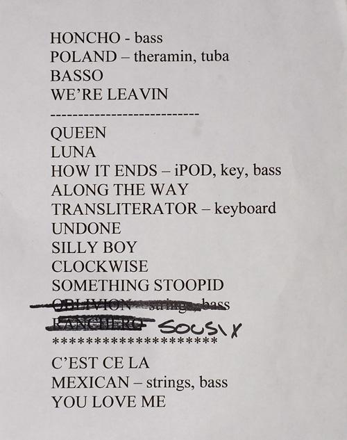 Devotchka set list -- 2008.05.23