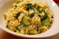 Orzo with zuchini