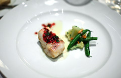 6th Course: Butter Roasted Wild Atlantic Striped Bass