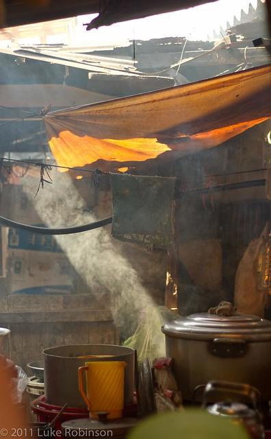 Light shaft through steam, Hoi An Central Market