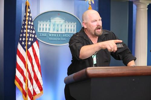 """Rocky """"holds"""" a press conference"""