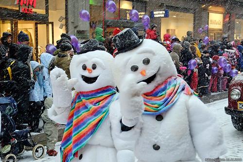 Muñecos de nieve felices (Foto de Taivasalla @Flickr)