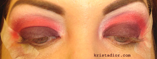 MAC Basic Red Pigment & MAC Burnt Burgundy Pigment