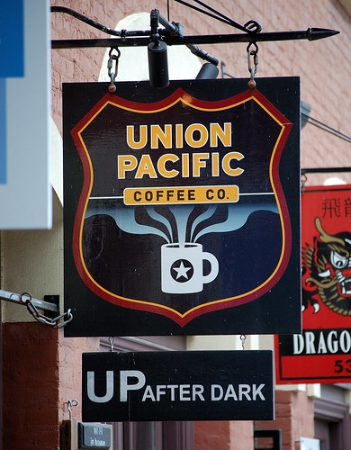 Union Pacific Coffee Company Sign