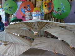 paper umbrellas drying