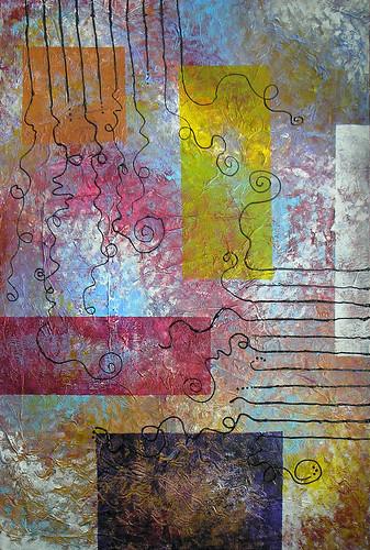 Omnivagus mixed media/acrylic on canvas, 24x36
